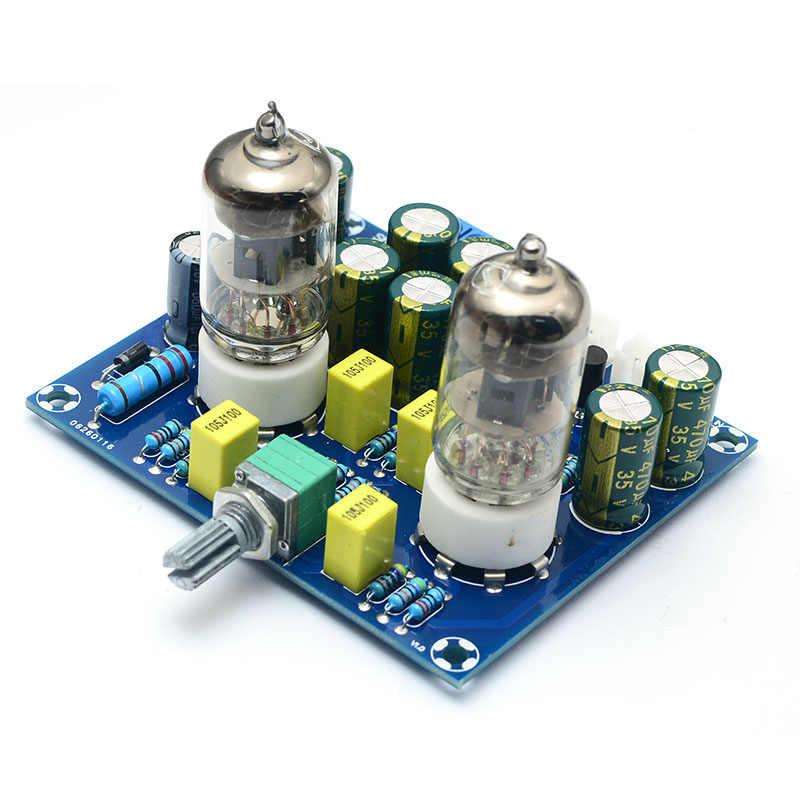 UNISIAN HIFI vacuum tube Preamplifier board 6J1 good sound electronic bile buffer preamp AC12V for home amplifier
