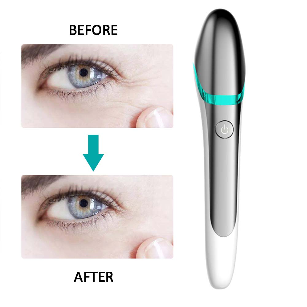 EMS Electric Vibration Eye Face Massager Anti-Ageing Wrinkle Dark Circle Pen Removal Rejuvenation Beauty Care Portable Pen