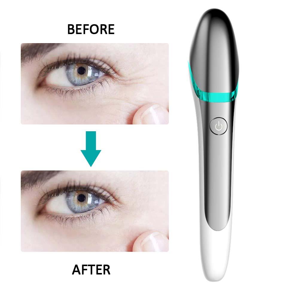 EMS Electric Vibration Eye Face Massager Anti-Ageing Wrinkle Dark Circle Pen Removal Rejuvenation Beauty Care Portable Pen