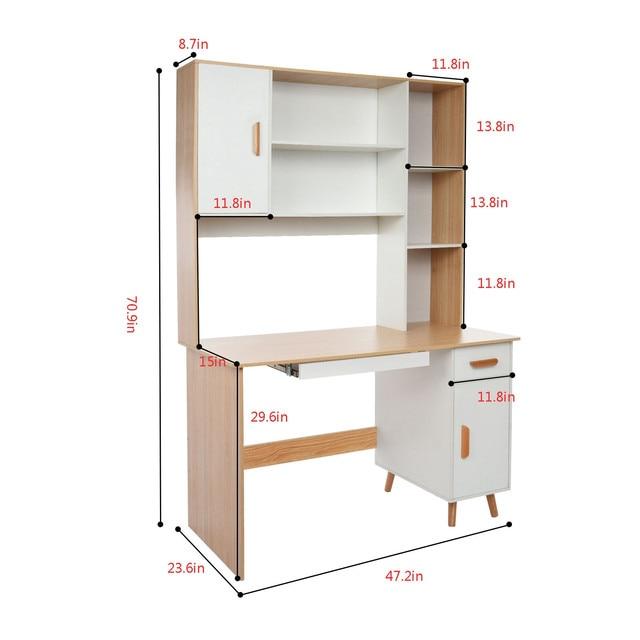 Computer Desk Bookcase Combination  2