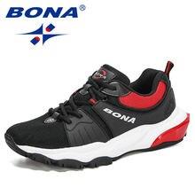 Bona 2020 новые дизайнерские кроссовки сетчатый светильник Мужская