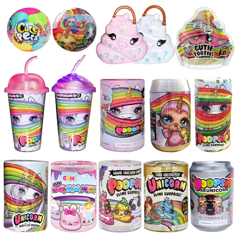 Poopsie surpresa slime unicorne latas sparkly bichos poopsie slime licorne unicórnio squishy stress reliever brinquedos