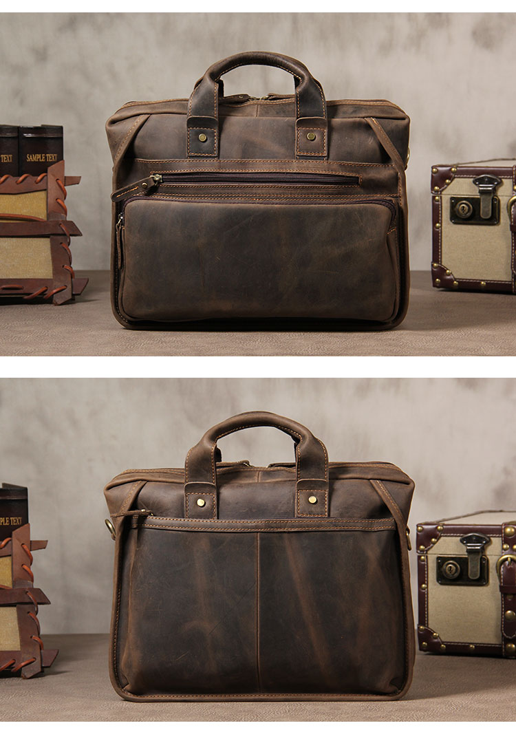 H125146345c054174b0a9aa29a40f230dq MAHEU Vintage Leather Mens Briefcase With Pockets Cowhide Bag On Business Suitcase Crazy Horse Leather Laptop Bags 2019 Design