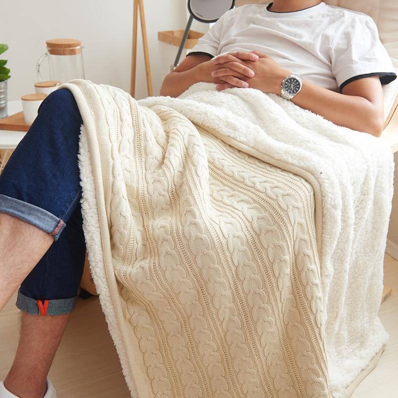 Printemps et automne couverture couverture de climatisation couvertures pour lits couverture de fourrure couverture tricotée couverture d'hiver