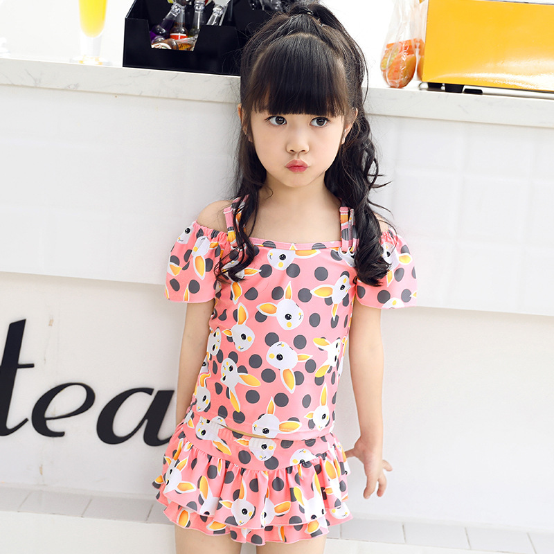 2018 New Style Summer CHILDREN'S Swimwear Girls' Two-piece Swimsuit Kids Swimsuit Skirt-Big Boy Bathing Suit