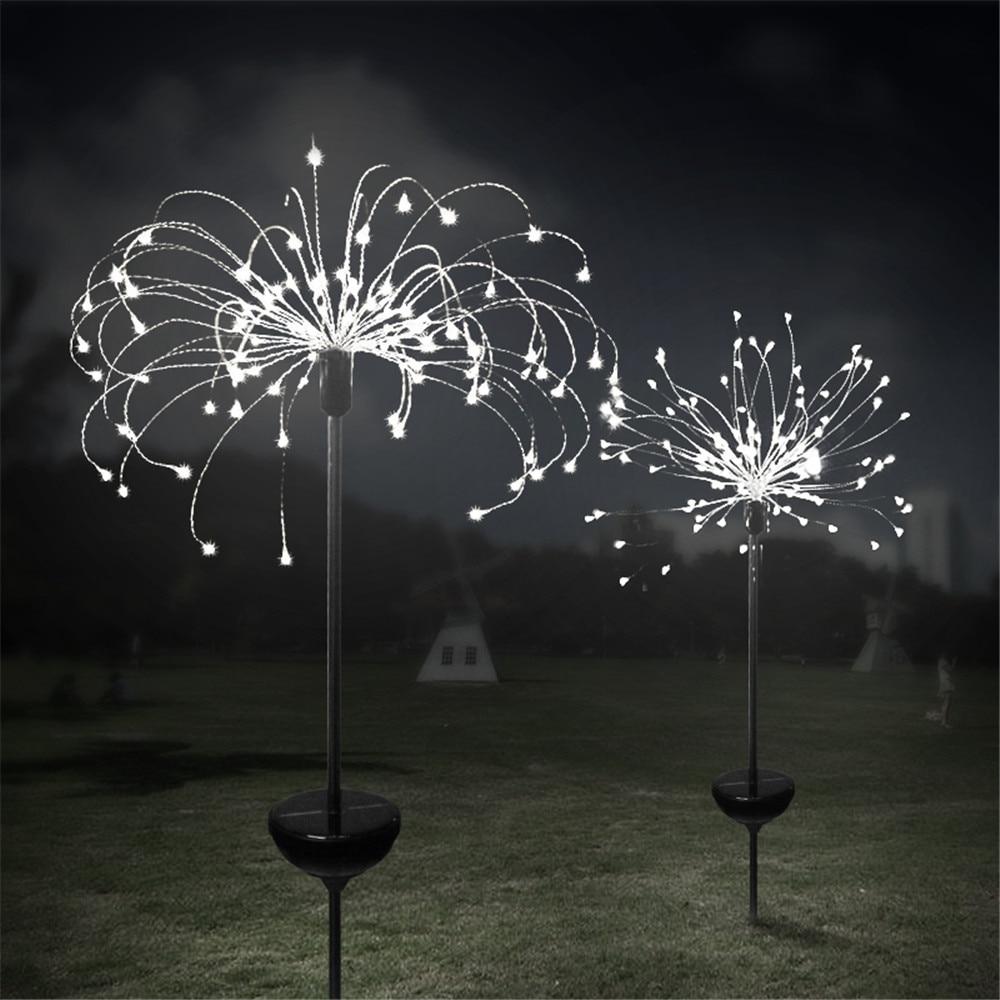 90/150 LED Solar Light Eight Function Modes Dandelion Lawn Lights / Grass NEW