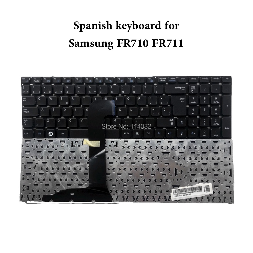 Reparar você vida teclado do portátil para samsung rf710 rf711 NP-RF710 sp layout espanhol es teclado novo