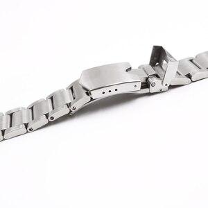 Image 3 - Carlywet 22mm 고품질 316l 스테인레스 스틸 실버 시계 밴드 스트랩 시계 밴드 tudor 블랙 베이