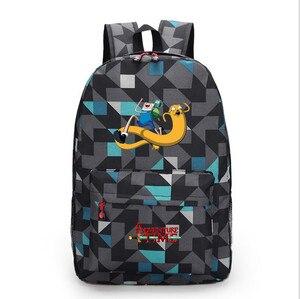 Image 4 - Adventure Time canvas backpack printing shoulder school bag travel bag knapsack Boy Girls packsack laptop bag