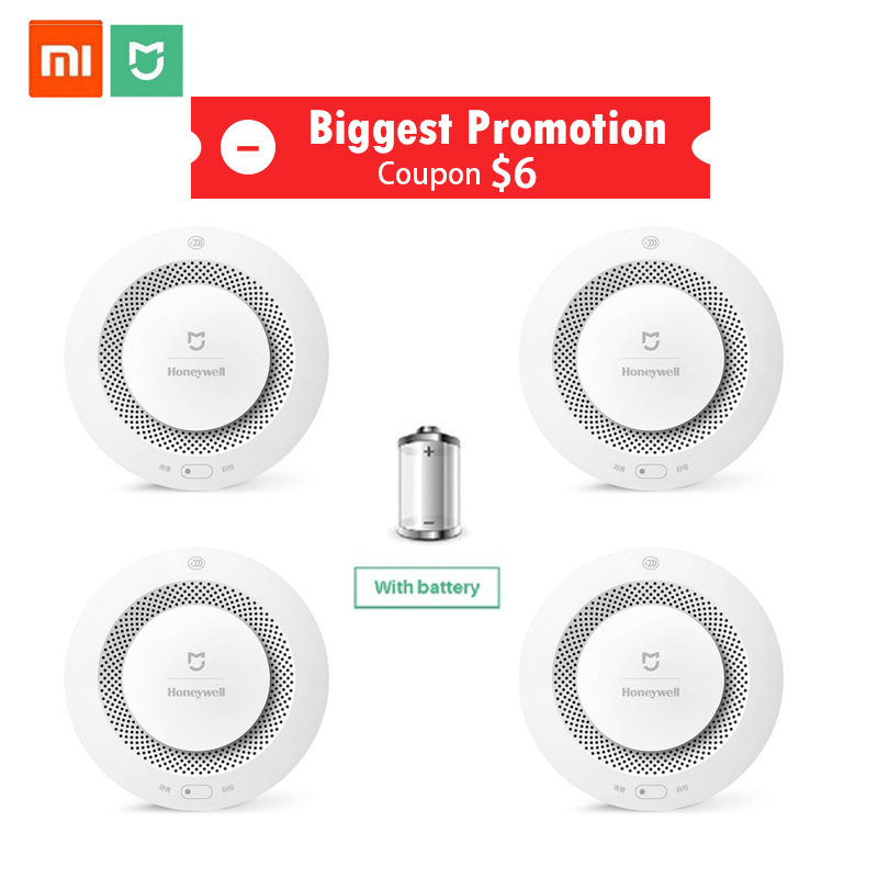 Xiaomi Gas-Detector Fire-Alarm Honeywell Smoke-Sensor Work Smart Gateway-2 Home-Security