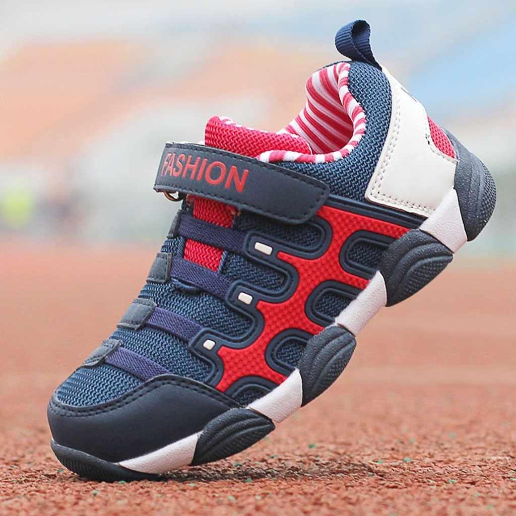 Moda Büyük Çocuk Kız Erkek Çocuklar spor Ayakkabı Örgü Sıcak Kış Mix Renk spor ayakkabı Çocuk Ayakkabı Çocuk Ayakkabı Tenis Infantil