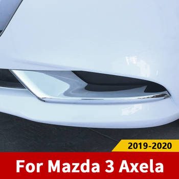For Mazda 3 Axela 2019 2020 Car Front /Rear Fog Light Cover Trims Back Tail Bumper FogLight Lamp Molding Garnish image