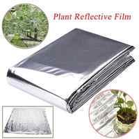 1Pc 210 x 120cm Reflective Film Garden Agriculure Greenhouse Grow Light Silver Plant Sun Reflective Garden Accessories