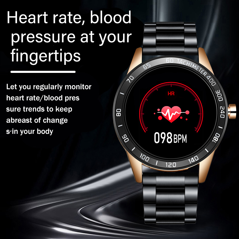2020 New steel band Men smart watch Waterproof sport for Xiaomi iPhone information Heart rate monitor smartwatch Fitness tracker 4