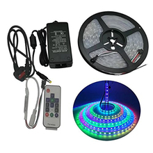 full set 5m 2811 strip Christams light 5A adapter RGB controller easy install WS2811 Programmable Addressable 5050 LED Tape