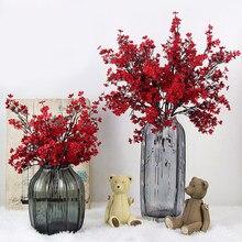 Fleurs de cerisier Gypsophila artificielles, fausses fleurs, pour le décor d'un mariage, un bouquet à la maison, branches