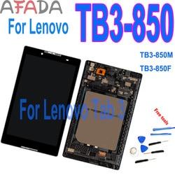 100% протестированный 8-дюймовый ЖК-дисплей с сенсорным экраном и дигитайзером в сборе для Lenovo Tab 3 TB3-850M, детали для замены и ремонта с рамкой