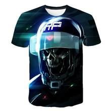 Skull T Shirt Men Skeleton T -Shirt Punk Tshirt Gun T Shirts 3d Print T -Shirt Vintage Men Clothing Summer Tops Plus Size 6xl