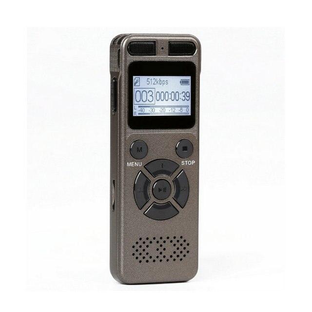 Dijital ses ses aktif kaydedici kulaklık kayıt MP3 HIFI Stereo 1536KPS WAV kayıt cihazı için gri İş gri