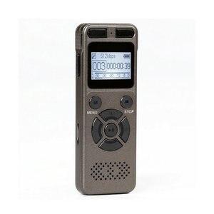 Image 1 - Enregistreur Audio activé par la voix numérique Dictaphone registraire MP3 HIFI stéréo 1536KPS WAV appareil denregistrement gris pour gris daffaires