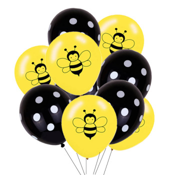 Bumble Bee Themed Happy Bee Day Balloons Happy Birthday Banner Honey Bee Party Decoration Cake Topper Baby Shower Party Supplies image