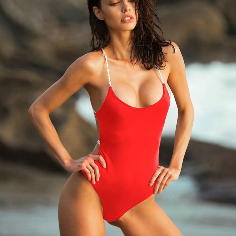 Badpak 2019 sexy maiô de uma peça pode mulher fundido banho feminino banho tanga sem costas monokini praia maiô de uma peça