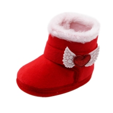 Snow-Boots Toddler Shoes Baby-Boy-Girl Infant Winter Cotton with Loves Anti-Slip Hot-Sale