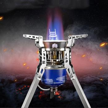 6800W Gas Stove Portable Outdoor Windproof BBQ Split Gas Stove for Camping Picnic Hiking Cooking Tool