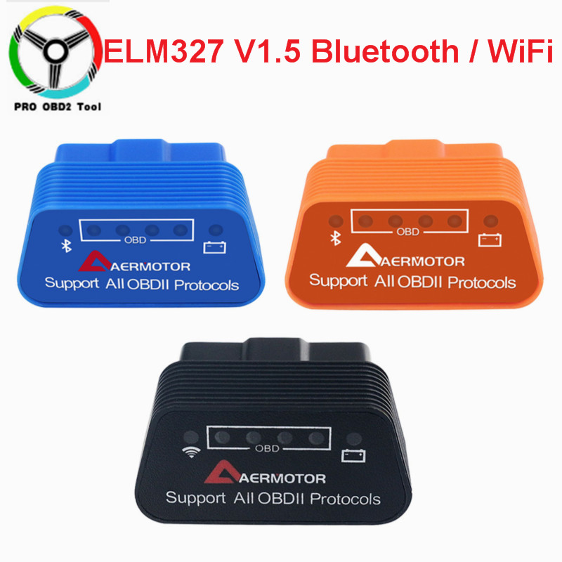 Super Mini ELM327 V1.5 Bluetooth/WiFi OBD2 ELM 327 1.5 Car Diagnostic Tool Support All OBDII Protocols For Android/Ios/Torque
