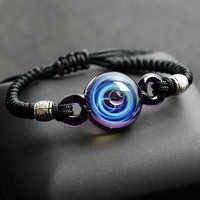 BOEYCJR univers chaud planètes perles de verre Bracelets et Bracelets bijoux de mode galaxie système solaire Bracelet pour femmes noël