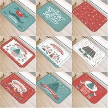 цена на 40x60cm Cute Diy Print Floor Mat Bathroom Ground Mats Slip Door Bath Pad Rug Merry Christmas