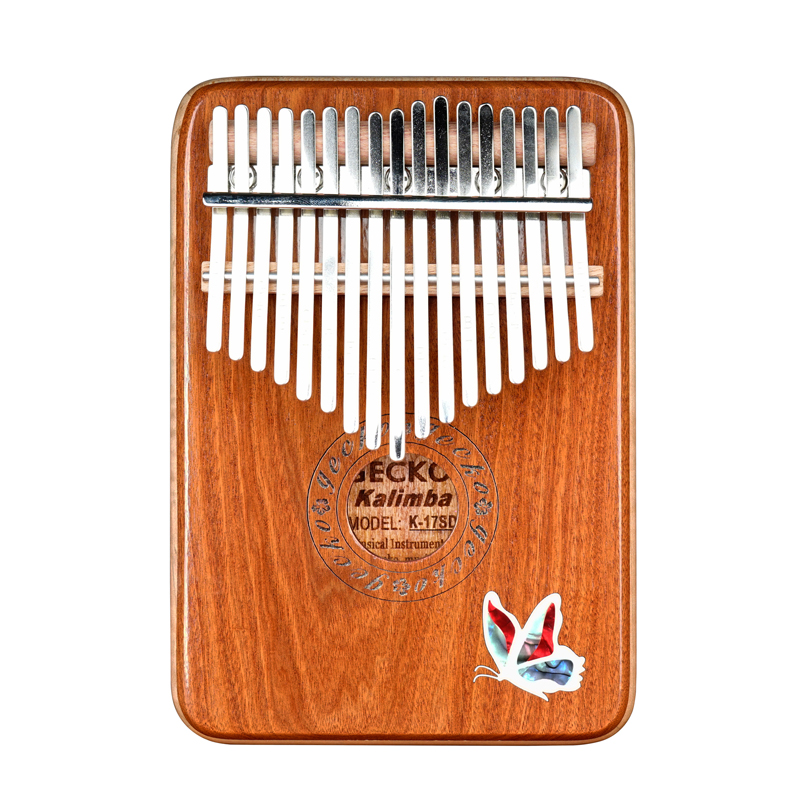 GECKO K17SD 17 Keys Kalimbas Finger Thumb Piano Solid Red Sandalwood Marimbas Keyboard Percussion With Case Parts
