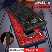 Pour Huawei Mate 30 Pro Vintage coque en cuir véritable couverture pour Huawei Mate 30 20 PRo 20X luxe complet étui de protection mode mate30 Mate20 X P30 P30Pro protéger antichoc accessoire