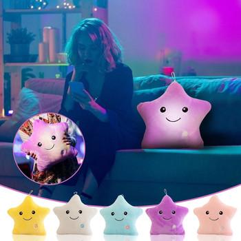 Pluszowe lampa zabawkowa Up dzieci wypchana poduszka 3D gwiazda LED poduszki miękkie poduszki pod talię pluszowe wypełnione zabawka dekoracyjna prezent pluszowa kanapa dla lalek tanie i dobre opinie CN (pochodzenie) 13-24m 25-36m 4-6y 7-12y 12 + y 31 cm-50 cm Pp bawełna Zwierzęta i Natura