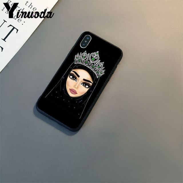 Muslim Seperti Mata Wallpaper TPU Hitam Ponsel Case Shell untuk Apple iPhone 11 8 7