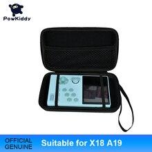 Powkiddy עבור X18 A19 נייד כף יד רטרו משחק תיק עבור רטרו משחק קונסולת RetroID משחק מכשיר רב פונקצית משחק חבילה
