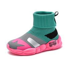 Buy 2019 Fashion Children Shoes For Girls Sneakers Kids Mesh Breathable Child Socks Shoes Boys Casual Shoes 1#15/15D50 directly from merchant!