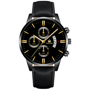 Image 4 - 2020 Relogio Masculino Horloges Mannen Mode Sport Rvs Case Lederen Band Horloge Quartz Zaken Horloge Reloj Hombr
