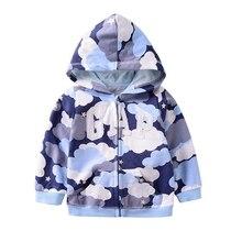 Осенняя одежда для малышей; пальто для мальчиков и девочек; Верхняя одежда; повседневная толстовка на молнии с капюшоном и цветочным рисунком; Детское пальто; Верхняя одежда; топы