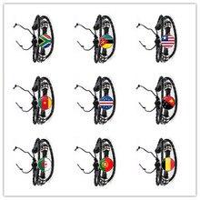Republika południowej afryki, mozambik, Liberia, kamerun, republika zielonego przylądka, papua-nowa gwinea, algieria, belgia, narodowa flaga portugalii bransoletka dla kobiet mężczyzn