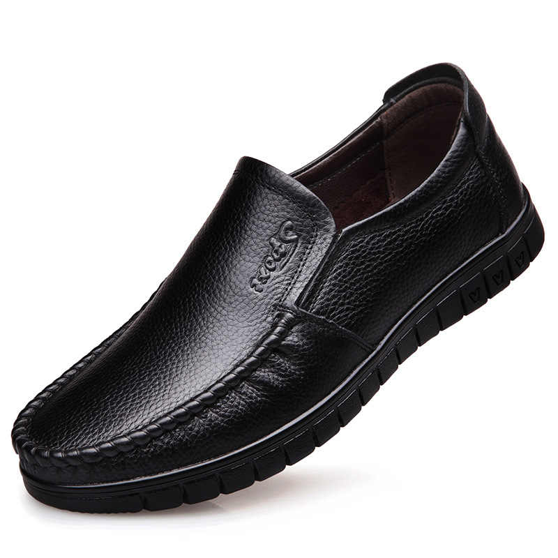 Echt Lederen schoenen Mannen Loafers Slip Op Business Casual Lederen Schoenen Klassieke Zachte Mocassins Ademende Mannen Schoenen Flats