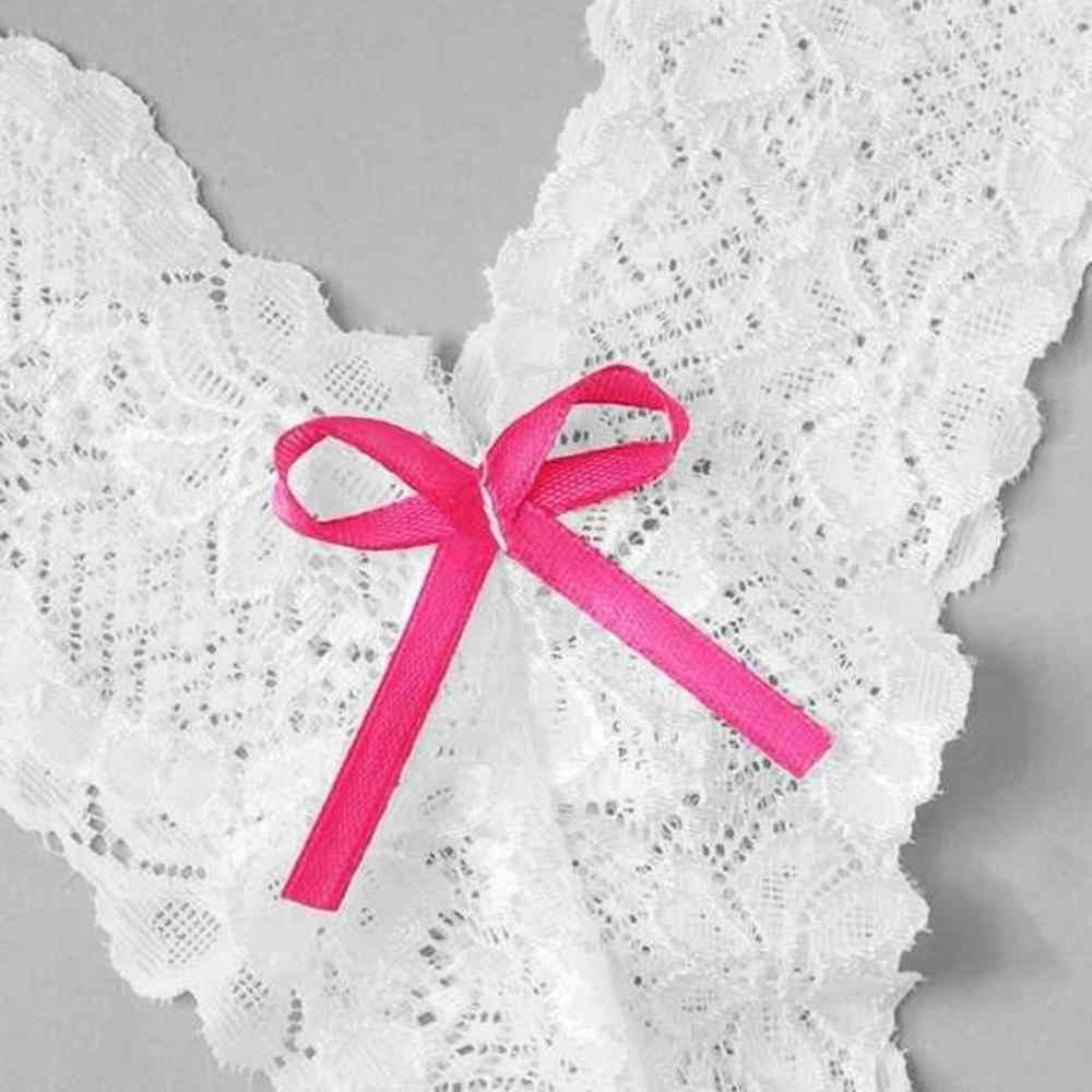 ผู้หญิงเซ็กซี่ Floral Lace ชุดชั้นในกางเกงไม่มีรอยต่อ Bowknot ทอง G-String ชุดชั้นใน Ropa ภายใน Femenina 2019 E