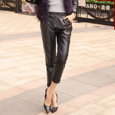2020 Women New Real Genuine Sheep Leather Pants W4