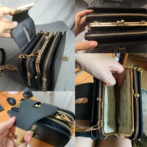 Image 4 - Women Spring Fashion Chain Shoulder Bags Brand Flap Designer 3 Layer Handbags Clutch Ladies Metal Buckle Crossbody Messenger Bag