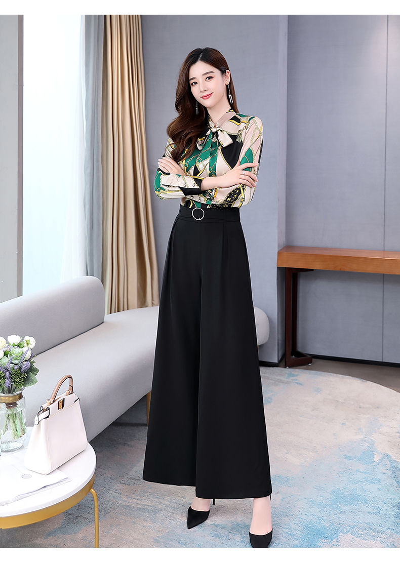 H1254904435c743acbfcd3c9158c5ee7fk - Summer Two Piece Set OL Women Sets Plus Size Two Piece Set Top And Pants Wide Leg Pants Woman Tracksuit /outfit/suit/Set 2 Piece