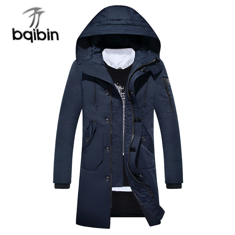 New   Down   Jackets Men Warm Winter Jacket   Coats   Hooded Windproof   Down     Coat   Long Casual Men   Down   Parka Outerwear J491