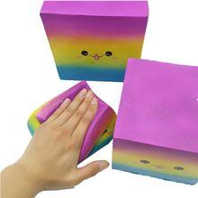Emojl Block Jumbo Squishy Toys Slow Rising Squeeze Antistress Toy PU Decor Gift R9UE jumbo squishy big tooth clockwork toy