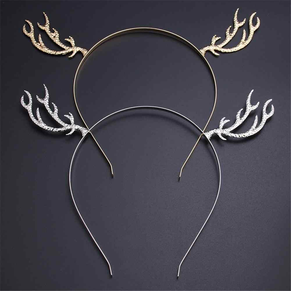ตกแต่งคริสต์มาสใหม่แฟชั่นผู้หญิงหญิงน่ารัก Elk Horn Hoop Headpiece พรหมกวางหูแถบเครื่องประดับ