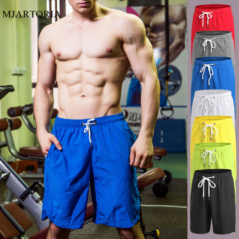 Men Shorts Summer Running Shorts Men Plus Size Quickly Dry Shorts Pocket Basketball Football Fitness Gym Training Sport Short