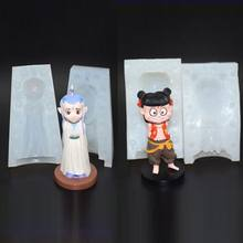Cute Cartoon Nataku Chinese Mythical Figure Resin Mold Jewlery Making Art Craft(China)